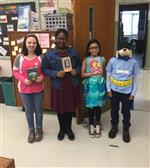 Four students as book characters