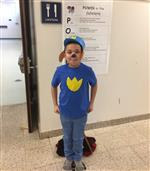 One student as a Paw Patrol book character