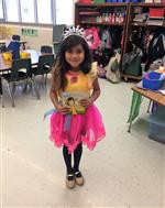 One student as a fairy book character