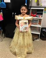 "One student as Beauty from ""Beauty and the Beast"""