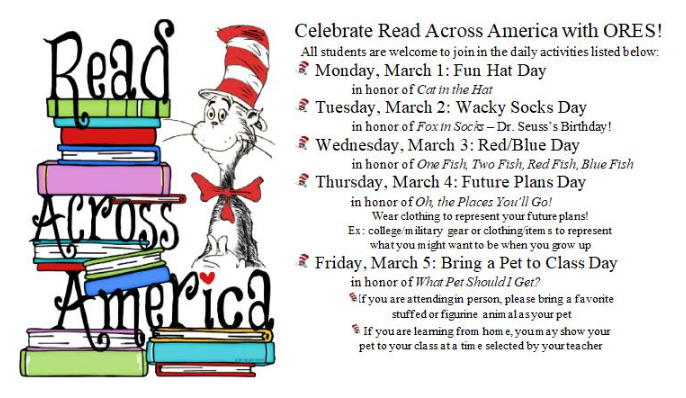 Read Across America Dress Up Days