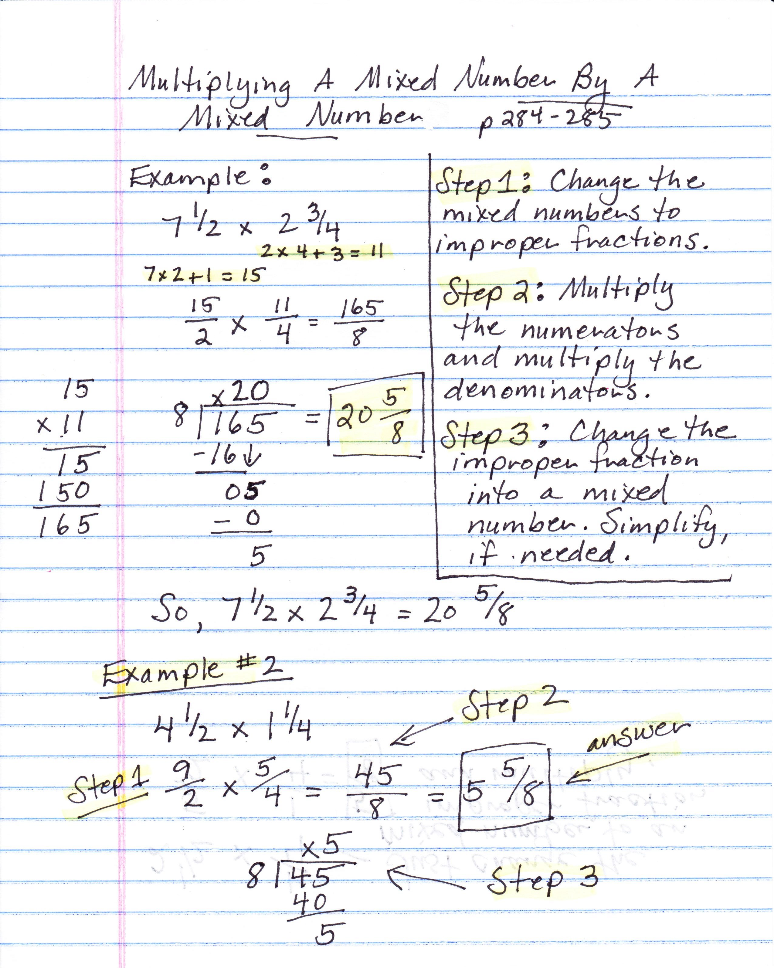 worksheet How To Multiply Mixed Numbers mabb christina m class math notes multiplying mixed numbers