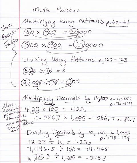 Mabb, Christina M / Class Math Notes