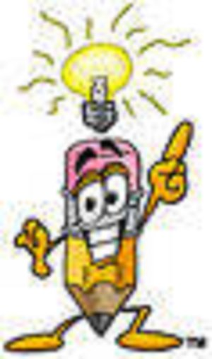 pencil w/lightbulb