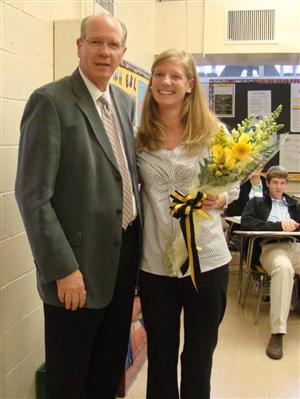 Principal Art Paschal & Allie Mangin