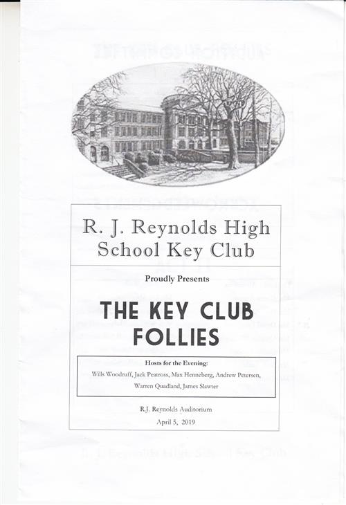 Follies programme cover