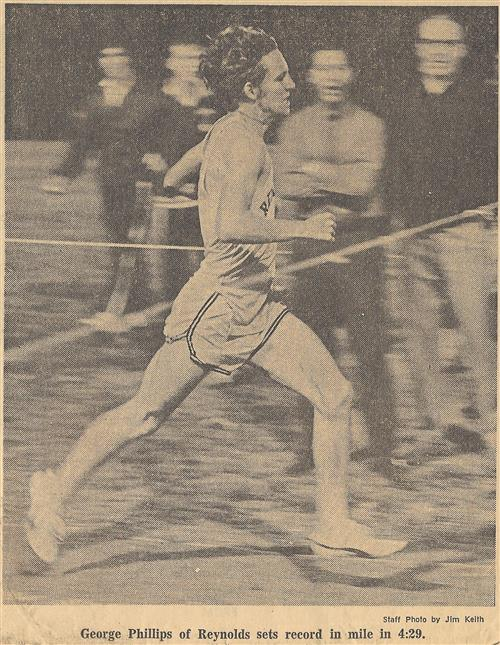 George Phillips when he set record for mile run