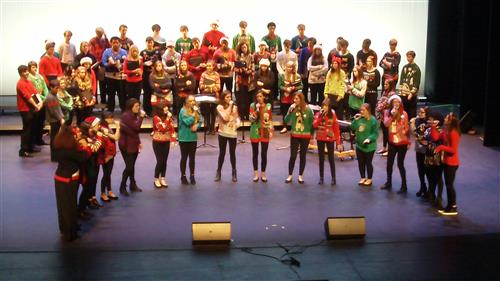 RJR Choir members at a Holiday Concert