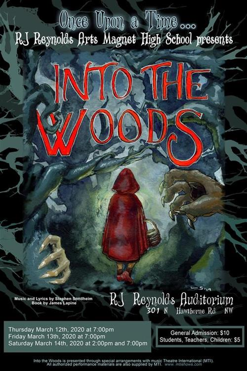 """Into The Woods"" flyer"
