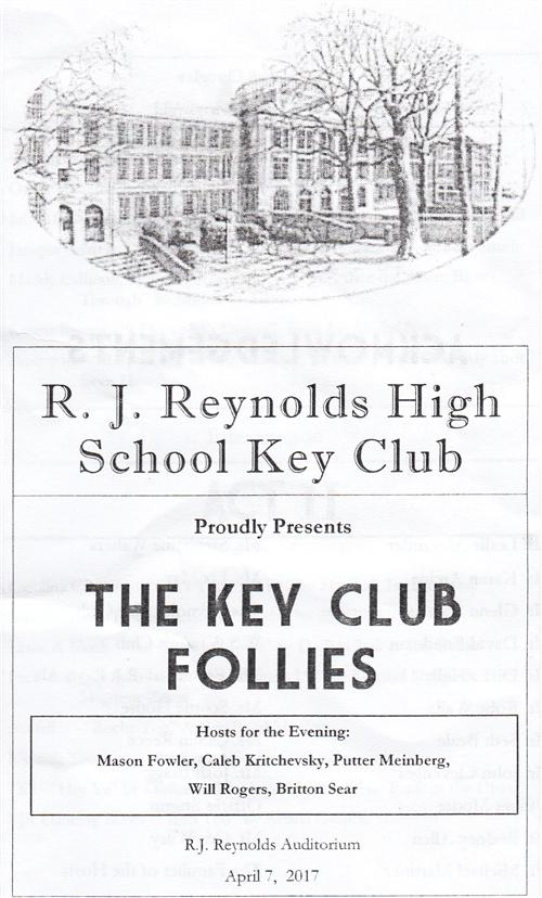 Key Club Follies bulletin