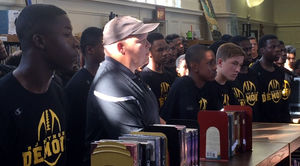 Pat Crowley and RJR football team members