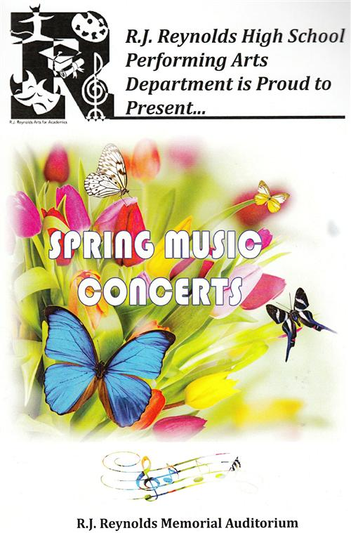 Spring Music Concerts bulletin