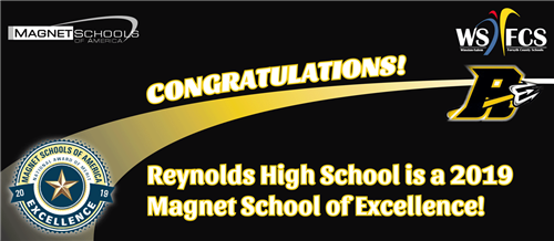 RJR named a Magnet School of Excellence banner