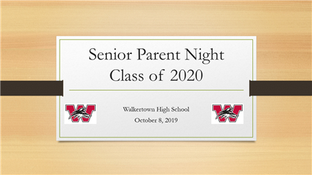 Senior Parent Info