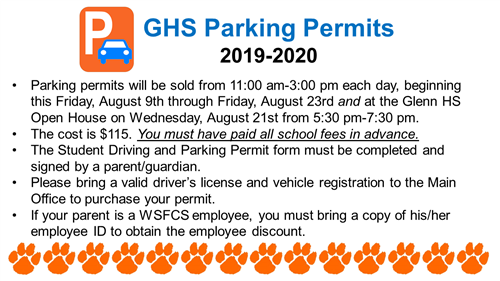 GHS parking permits