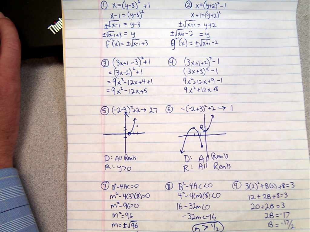 Practice 10 2 Parabolas Answers on Parabolas Worksheet Answers