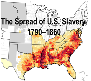 Library Media Center History African American - Us slavery map