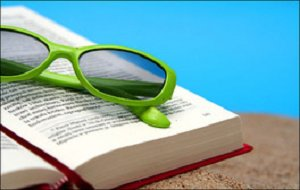 sunglasses with book