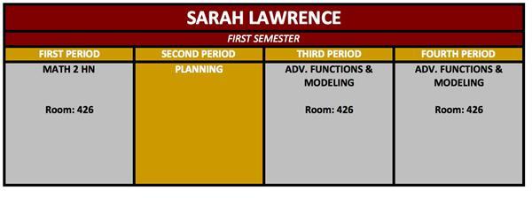 lawrence sarah f welcome