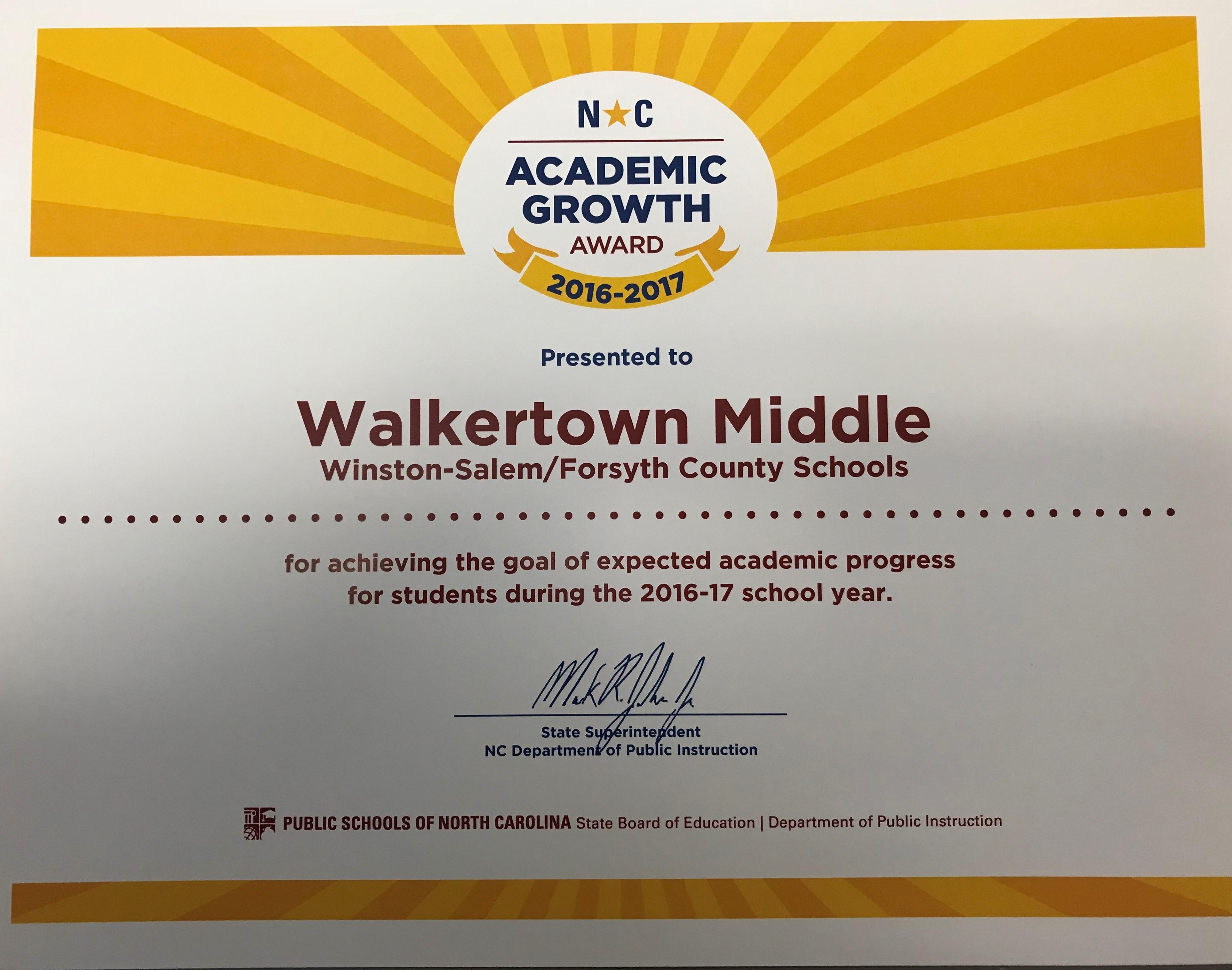 Walkertown Middle School Overview